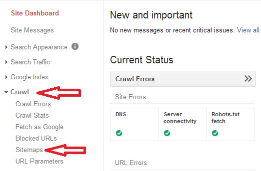 crawl > Sitemaps