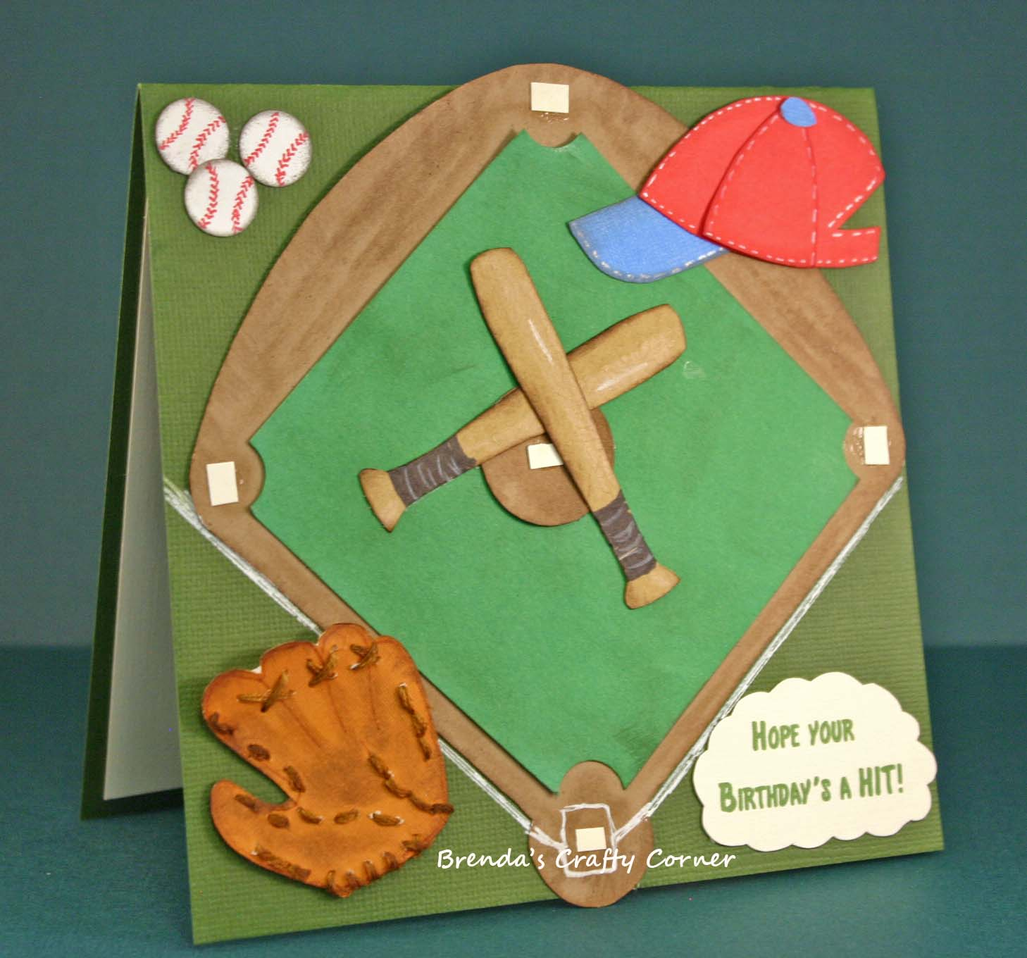 Brendas Crafty Corner Baseball Birthday Card