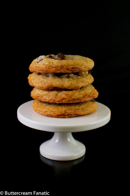 Thick and Chewy Chocolate Chip Cookies from ButtercreamFanatic.com