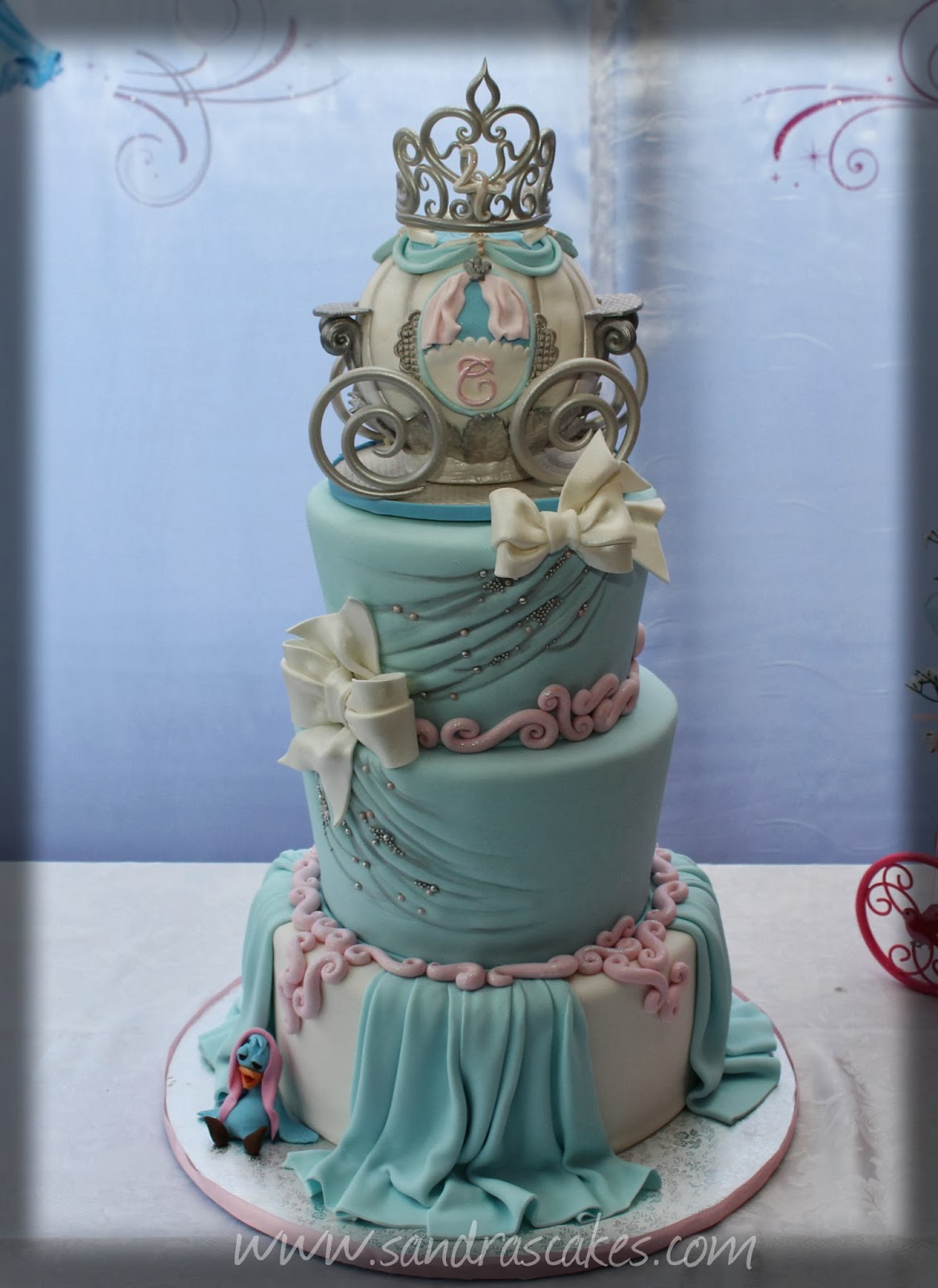 Carissas Cinderella Themed Birthday Cake