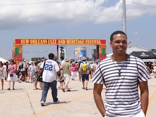 El artista dominicano José Fermín logró ovaciones en New Orleans Jazz fest.