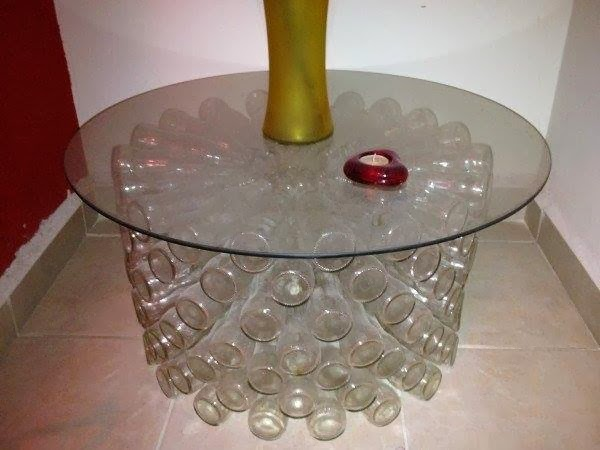 Glass Bottle Table