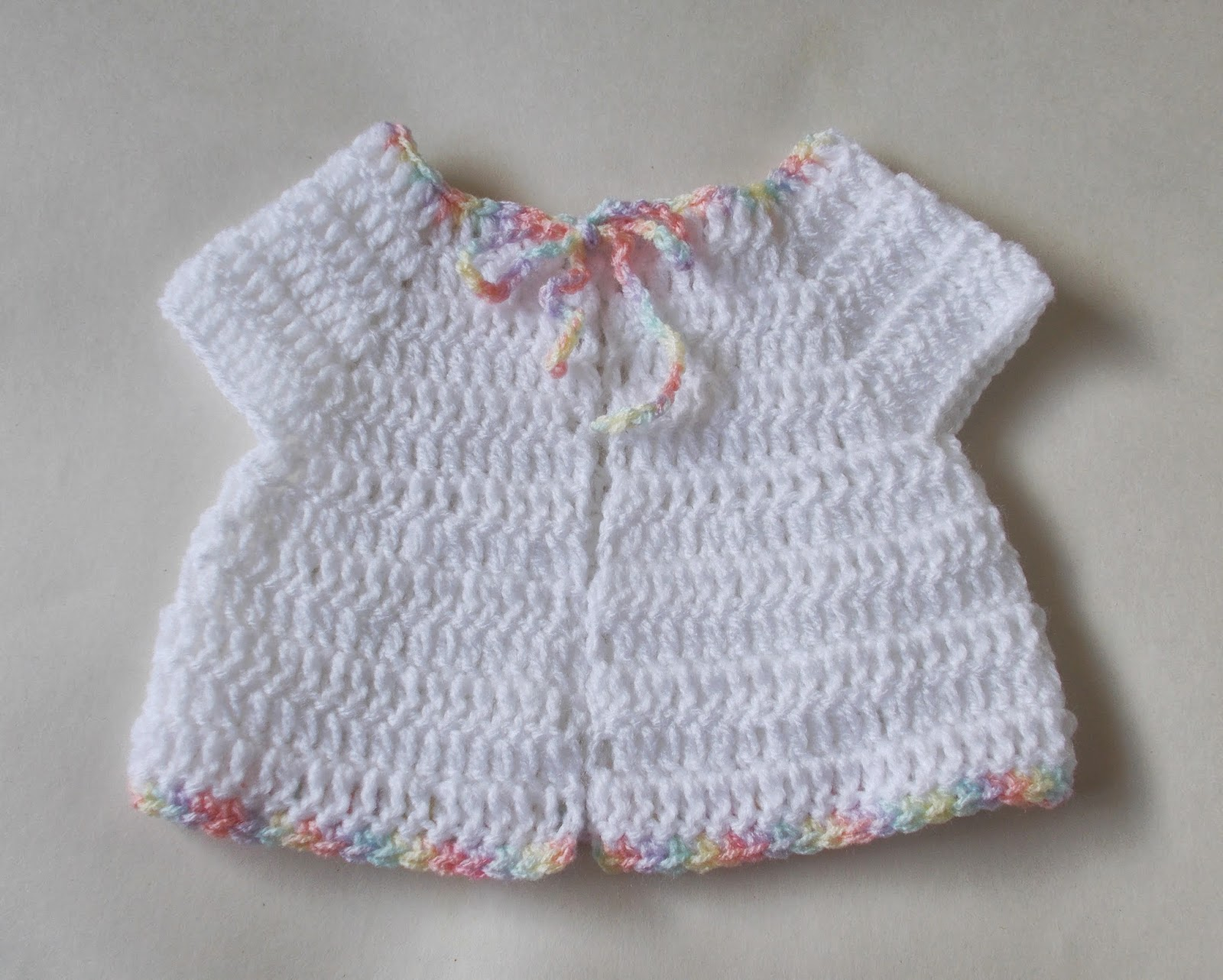 Crochet Patterns For Premature Babies : mariannas lazy daisy days: Premature Baby Crochet Baby Jacket