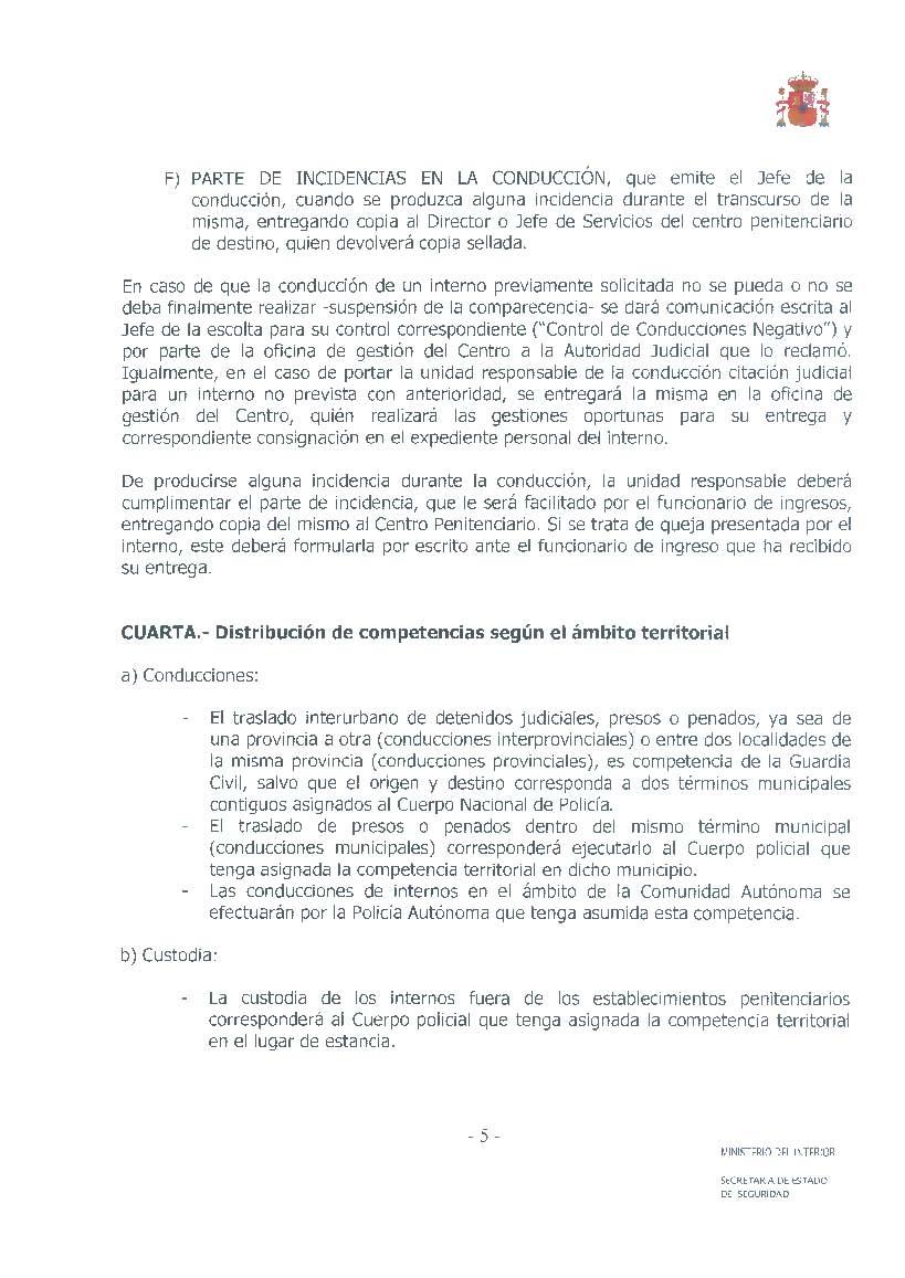 Ufp almer a instruccion 5 2009 de la secretaria de for Ministerio de seguridad telefonos internos