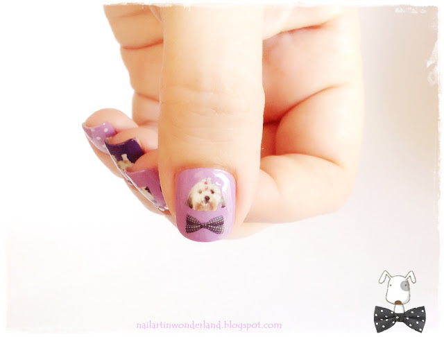 Vintage Dogs Nail Art