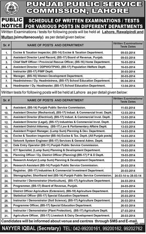 PUNJAB PUBLIC SERVICE COMMISSION LAHORE JOBS IN PAKISTAN LATEST JOBS IN PAKISTAN