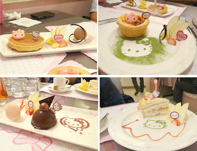 Hello Kitty Cafe, Hello Kitty restaurant, Hello Kitty cake