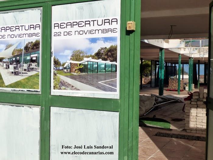 Obras restaurante la montaña de Arucas