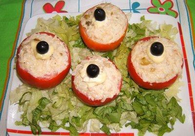 Receta para preparar tomates rellenos con frijoles de soya