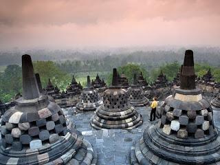 The Buddhist temple of Borobudur Indonesia