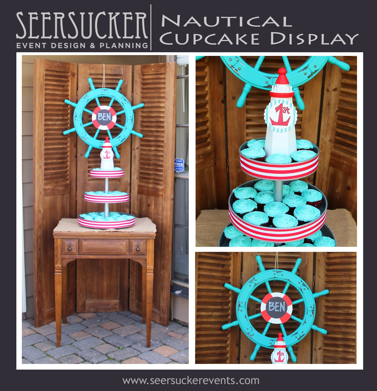 Nautical Cupcake Display