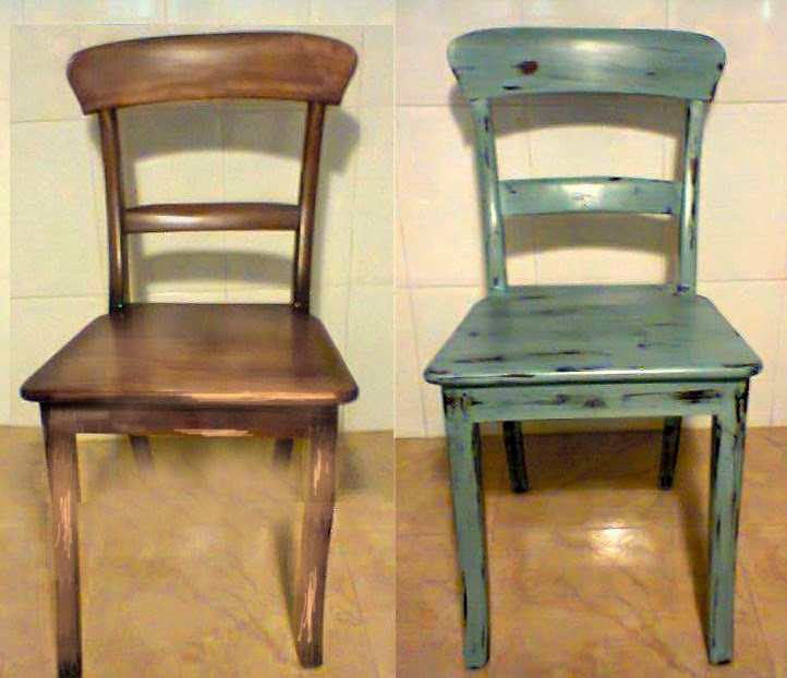 El chalky blog silla vintage con pintura chalky a la tiza - Restaurar sillas de madera ...