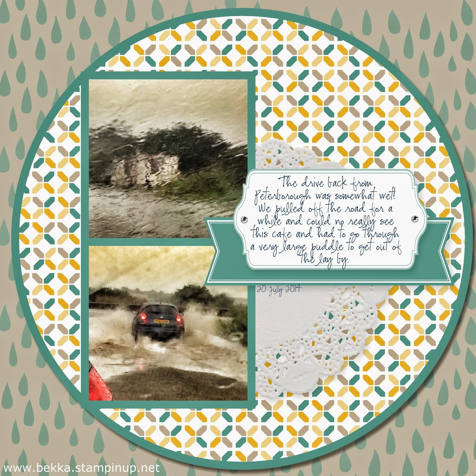 Digital Scrapbook Page by Stampin' Up! UK Independent Ddemonstrator Bekka Prideaux - check out her digital projects every Monday