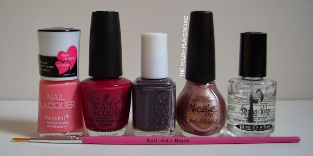 Nabi, OPI, Essie, Nicole by OPI, Seche Vite, stripper brush