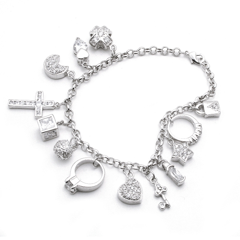 diamonds are the elegance of life bracelet charm
