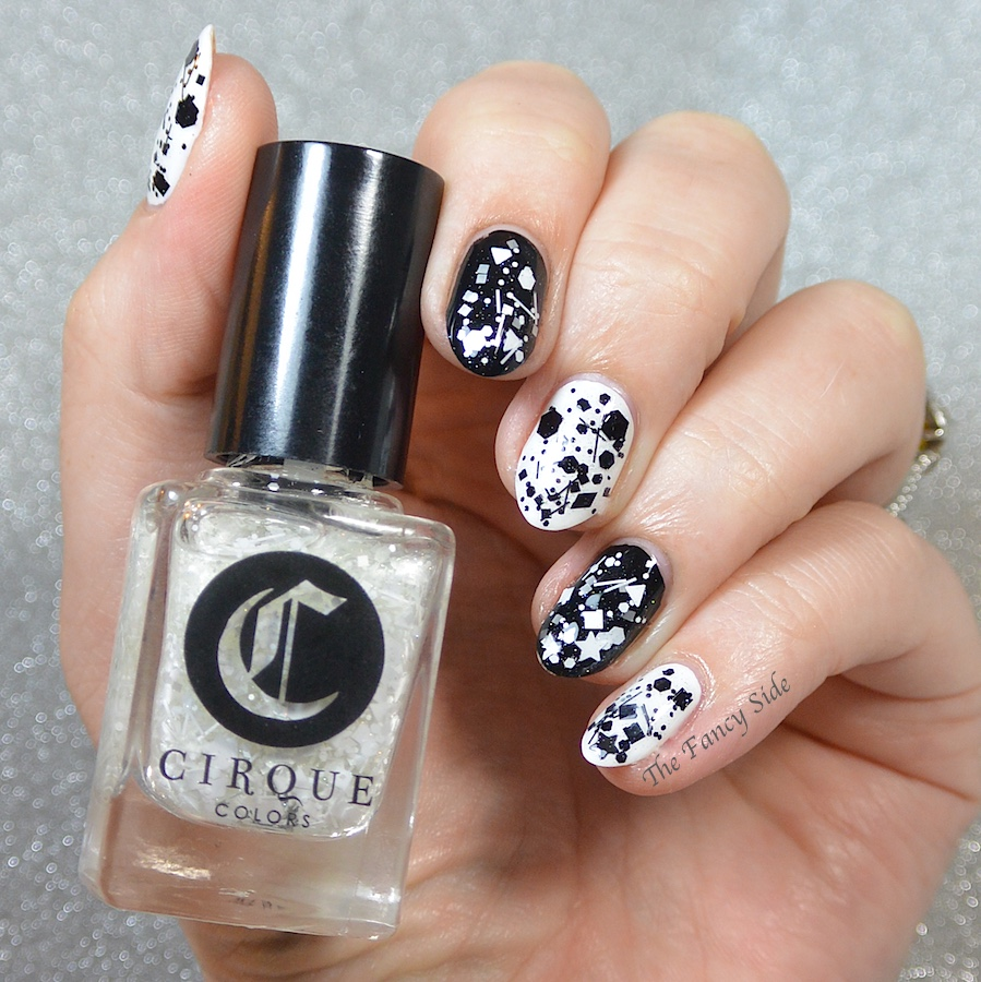 The Fancy Side: #31DC2015: Black & White Nails