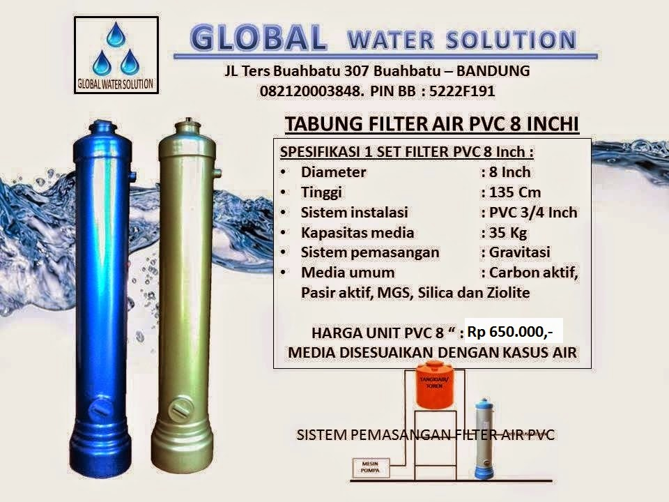 HARGA TABUNG FILTER AIR PVC 13