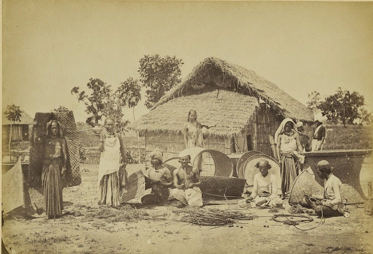 Basket and Reed Mat Makers - c1880's