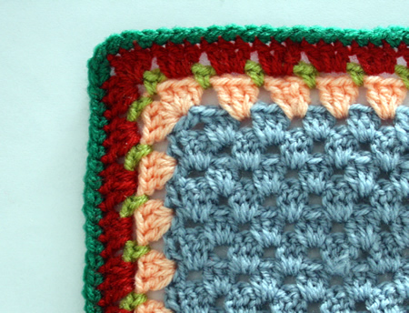 Tutorial: granny stripe edging