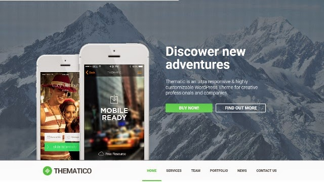 Thematico - One Page Drupal Theme