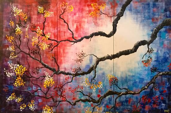 Fall of a Season - 4, painting by Anuj Malhotra ( part of his portfolio on Indiaart.com )