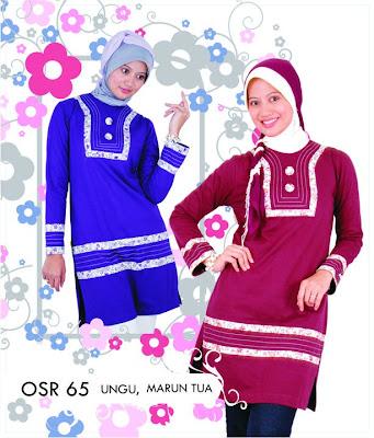 Katalog Fashion Osmoes Pakaian Wanita Muslim Ungu Marun Tua