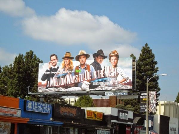 A Million Ways to Die in the West billboard