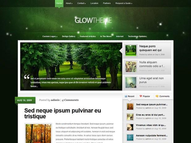 Download Free Glow WordPress Theme