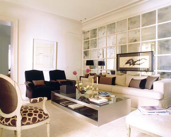 My little pretty house juego de espejos en panel con for Espejos grandes salon