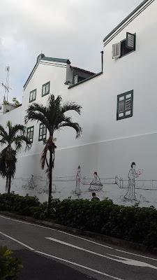 Wall mural in Duxton Hill Tanjong Pagar Singapore