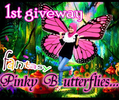 1ST GIVEAWAY   FANTASY PINKY BUTTERFLY