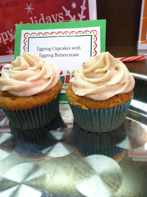eggnog cupcakes with spiced eggnog buttercream