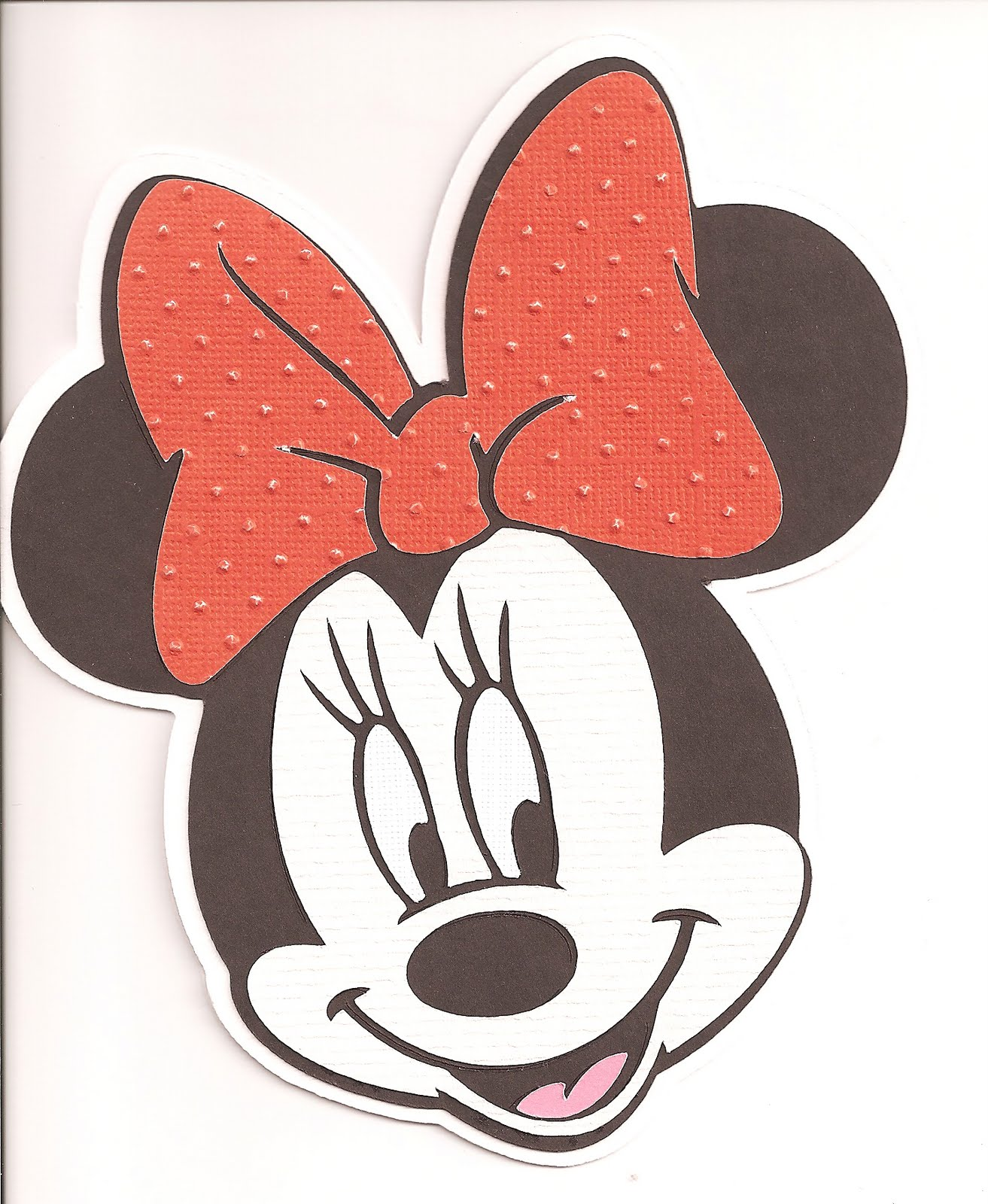 that crop spot minnie mouse birthday card, Birthday card