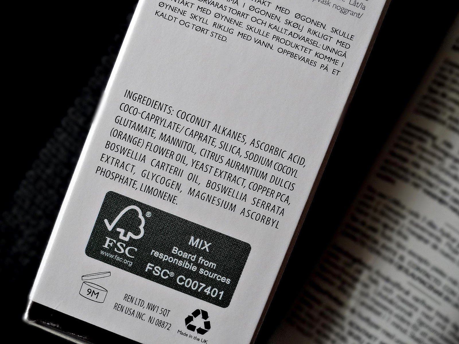 REN Flash Rinse 1 Minute Facial Ingredients