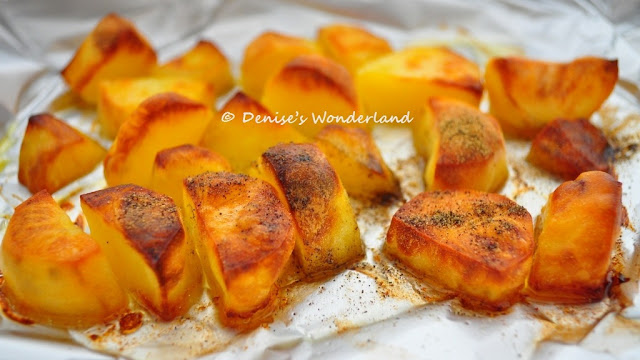 20 minutes Oven Baked Potato