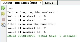 Program to demonstrate how to swap two numbers with and