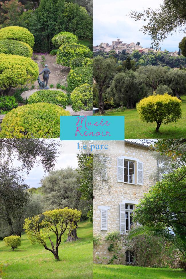 musée Renoir Cagnes sur Mer il parco