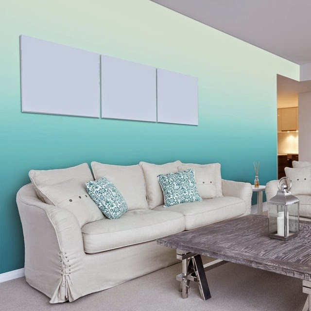 Awesome Living Room Wall Painting Techniques Ombre Wall Colors - Ombre wall painting technique
