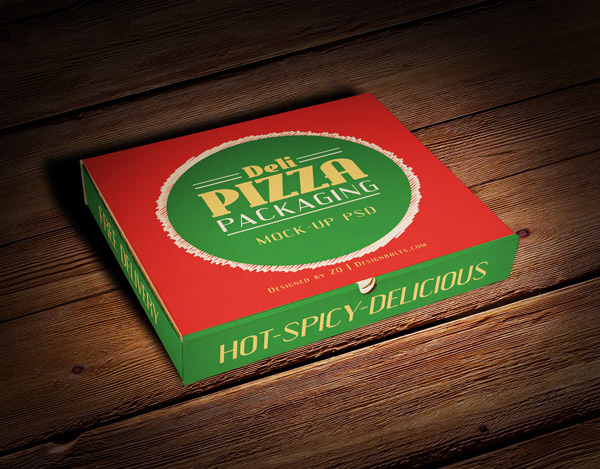 Download Packaging Mockup PSD Terbaru Gratis - Pizza Box Packaging Mock-up PSD