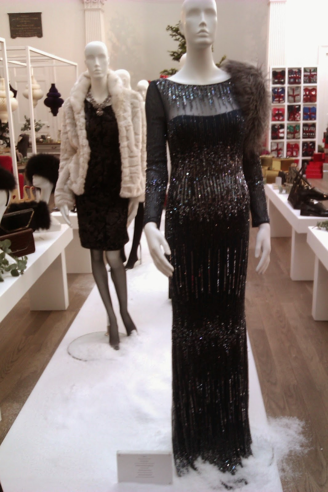 Black dress debenhams - At The Front Is A Blue Sequin Dress From Debut With Rocha John Rocha Black Sequin Dress And Faux