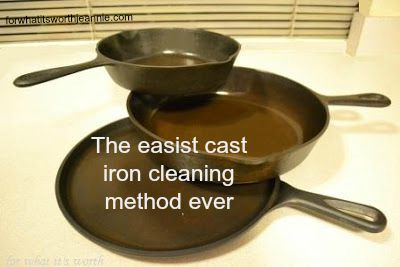 The easiest cast iron cleaning method ever!