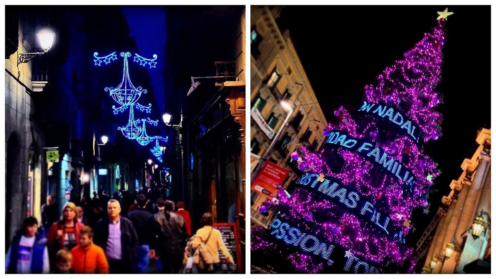 luces árbol navidad barcelona magia família christmas paseo portal àngel tallers noche mágica bcn