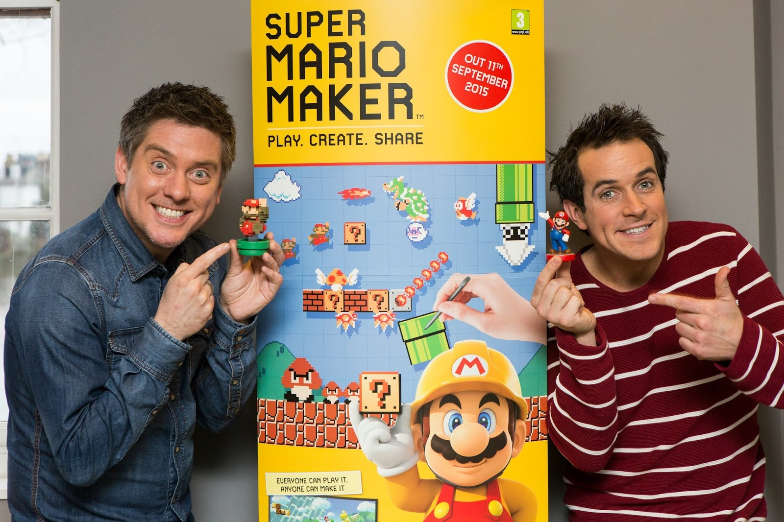 Nintendo Super Mario Maker, Dick and Dom, Dick and Dom create Super Mario Maker Levels