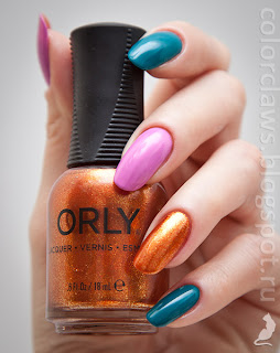 Orly Pink Waterfall + Teal Unreal + What's The Password?