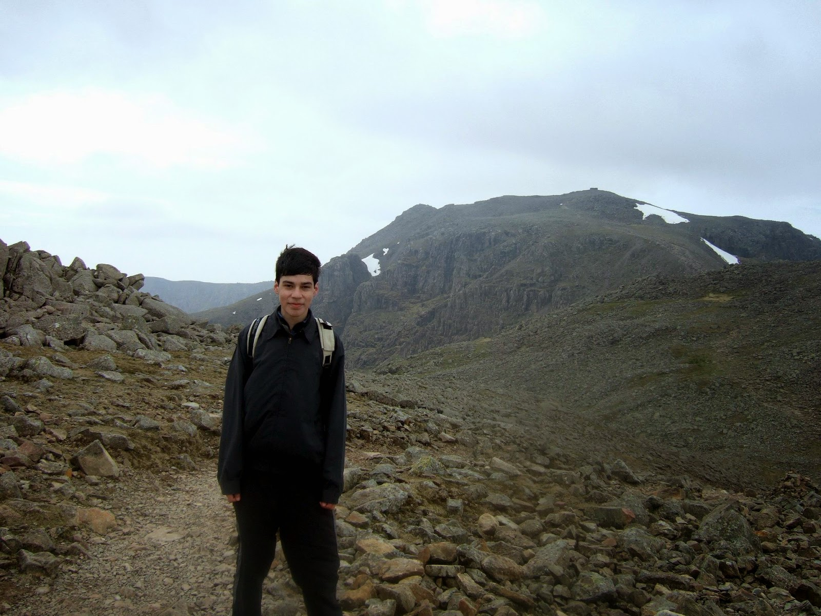 climbing scafell pike