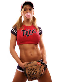 Baseball MLB Minnesota Twins sexy fan girl