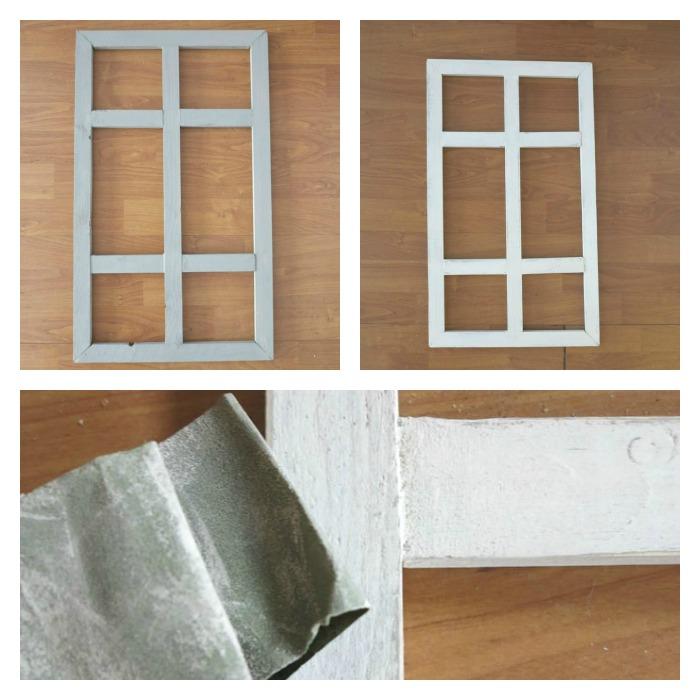 Una pizca de hogar diy ventanas decorativas - Hacer una ventana de madera ...