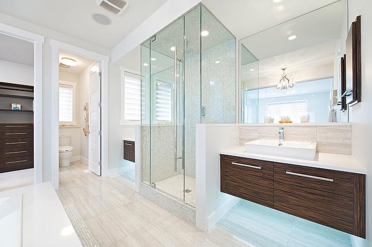 Banheiros Modernos, quais são as tendências?  DecorSalteado -> Banheiro Pequeno Com Espelho Ate O Teto