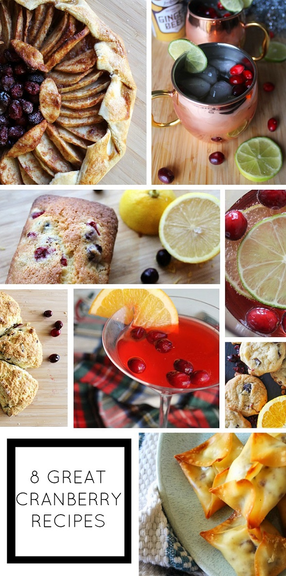 8 great recipes with cranberries. Making one of these this weekend!