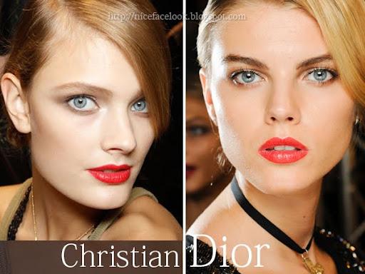 Грим с червено червило Dior